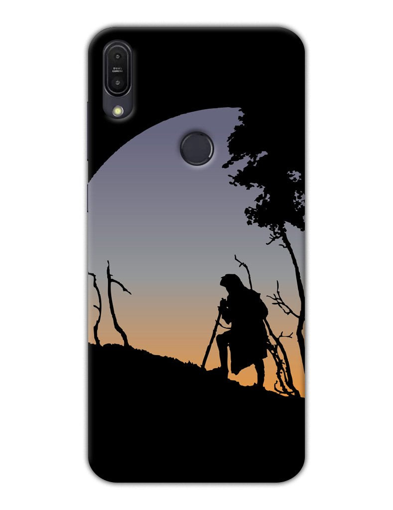 6bbe32a7e4e Old Man Journey in Mountain Minimal Designer 3D Matte Finish Mobile Back  cover for Asus Zenfone