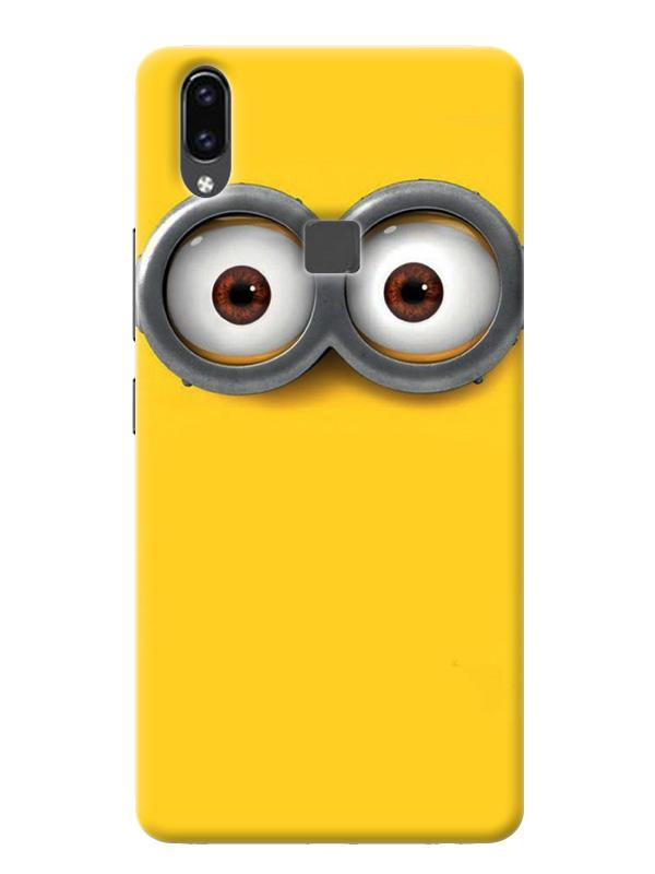 differently 4ebc4 213ce Minion Eyes Cartoon Character Despicable Me Minimal Designer 3D Matte  Finish Mobile Back cover for Vivo V9