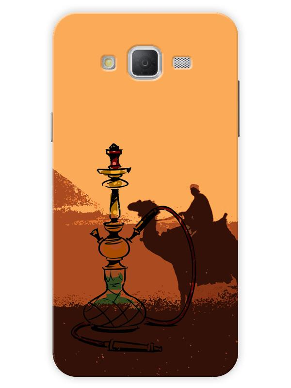 the latest 86634 c245a Arabic Hookah Lover Silhouette Minimal Designer 3D Matte Finish Mobile Back  cover for Samsung-galaxy-J2