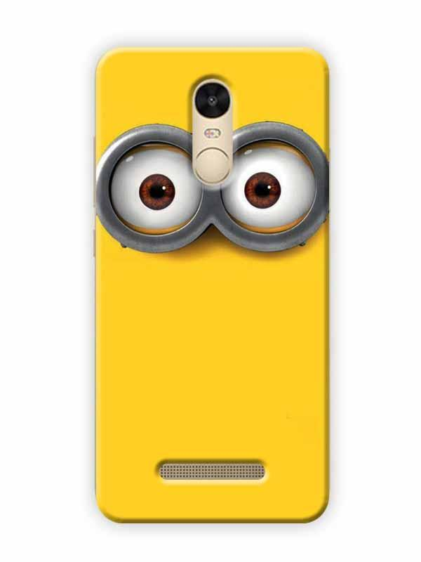 new styles 60ff6 c0902 Minion Eyes Cartoon Character Despicable Me Minimal Designer 3D Matte  Finish Mobile Back cover for Xiaomi Redmi Note 4