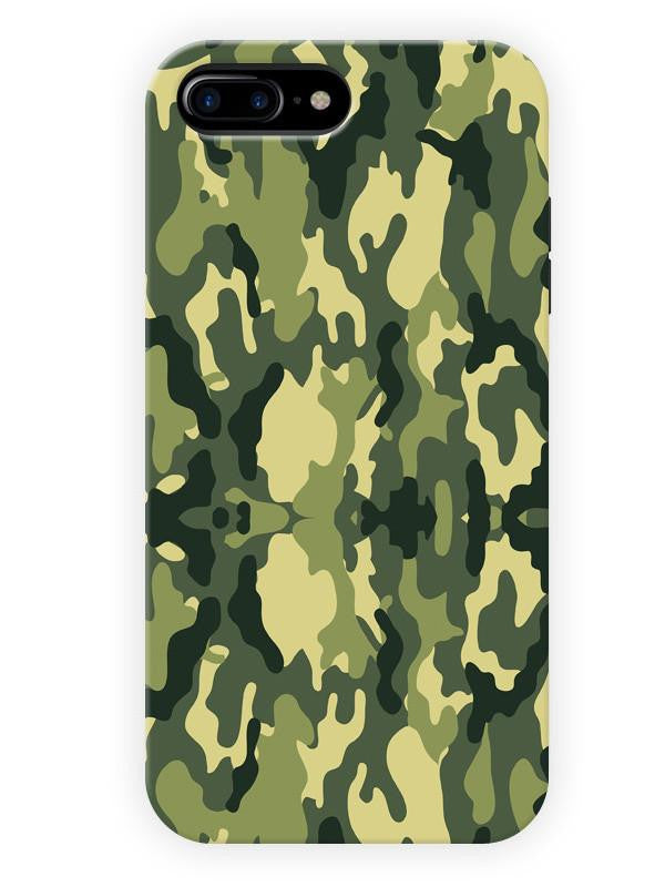 6944fb0d96 Universal Camouflage Army Pattern Green Minimal Designer 3D Matte Finish  Mobile Back cover for apple iphone7plus