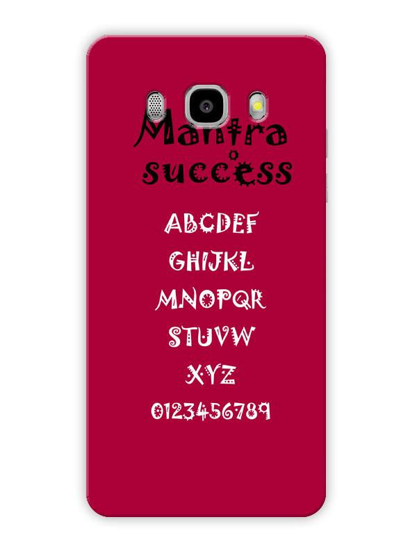 f788dc9889fb Back to School Mantra To Success Alphabet & Numbers Minimal Designer 3D  Matte Finish Mobile Back cover for Samsung galaxy J7 2016