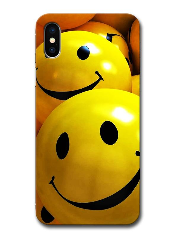 Quirky Smileys Balls Happy Faces Minimal Designer 3D Matte Finish Mobile  Back cover for Apple Iphone X