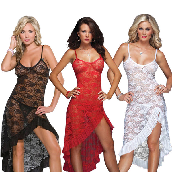 Long Sexy NightDress DancingDress T-Back M,L,XL,XXL  Lingerie Sexy