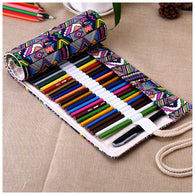 National Canvas School Pencil Case 48 Holes Roll Up Pencil Bag Portable Pencil Box School Supplies material escolar