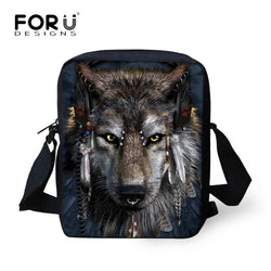 3D  Animal Printed Messenger Bags Small Cross Body Bags for Ladies Mens Travel Bags