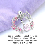 Butterfly Belly Button Rings Sexy Body Piercing Bars Piercings Navel Piercing