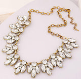 Vintage Jewellery Crystal Flower Chokers Necklace Necklaces & Pendants