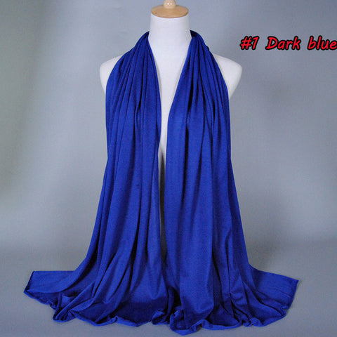 Plain Solid Color Jersey scarf Wrap Snood 180*85Cm