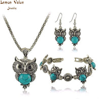 Boho Statement Women Jewelry Sets owls design