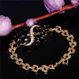 18k Yellow Gold Plated Austrian Crystal  CZ Stones Bracelets