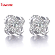925 Sterling Silver Fine Jewelry Love Eternal Heart Luxury zircon CZ Diamond Crystal