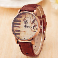 Piano Musical Notation Retro Casual Quartz Watch