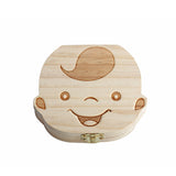 Wood Baby Girl Boy Tooth Organizer Boxes Save Deciduous Teeth Storage Keepsakes