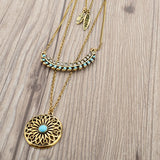 Long Bohemian Gold Beads Necklaces & Pendants