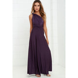 Women Maxi Dress Red Beach Long Dress Bridesmaids Convertible Wrap Party Dresses