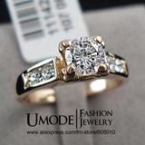High Quality  Rose Gold Plated  simulated Diamond Wedding Ring