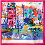 90cm*90cm 2016 New Arrival Women Vincent van Gogh Oil Painting Coffee house big size silk scarf women shawls girl wraps NEW