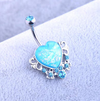 Body Piercing Jewelry Women Sexy  Retro love Navel Piercing Belly Button Ring