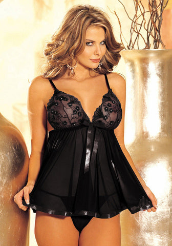 5b033d9f3 ... Embroidery Sequine Plus Size Sexy Lingerie Women Transparent Backless Sexy  Sleepwear Nightwear BABYDOLL ...