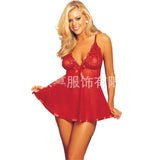 Embroidery Sequine Plus Size Sexy Lingerie Women Transparent Backless Sexy  Sleepwear Nightwear BABYDOLL