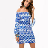 Fashion Bohemian Summer Dress Print Beach Vintage Sexy Casual Ladies Clothing Women Robe Party Dresses
