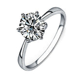Clear Zircon Inlaid Wedding Bridal Engagement Party Jewelry Ring Sizes 6-9  5LLR