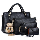 Women Bag  Messenger Bags Handbags Leather Bag 4 piece Set