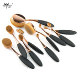 MULTIPURPOSE 10pcs/set Brush Shape Oval Makeup Brush Set Professional Foundation Powder Brush Kits