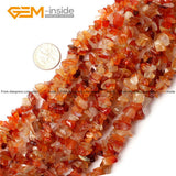 Natural Chips Beads For Jewelry Making Red Carnelian Red Coral  Lemon Stone Indian Agates Amazonite 34inch Free Shipping worldwide