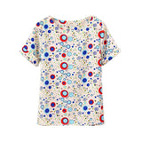Summer Fashion Bird Printed Women Tops Colorful Short Sleeve Female T-Shirts