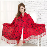 Luxury Flowery Pashmina Scarves  Shawl