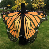 Women Scarf Shawl Wrap Butterfly Wing Cape Scarf