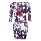 Casual Women Dress Half Sleeve Asymmetrical neck Dress Sheath Bodycon Dresses