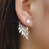 Women's Angel Wings Rhinestone Inlaid Alloy Ear Studs Party Jewelry Earrings