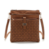 Small Bag Women Messenger Bags Soft PU Leather Hollow Out Crossbody Bag
