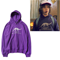Stranger Things Hoodies Unisex Adult Sweatshirts  Brontosaurus Purple Hoodie