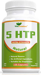 5-HTP 120 Vegetarian Capsules - Natural Sleeping Aid