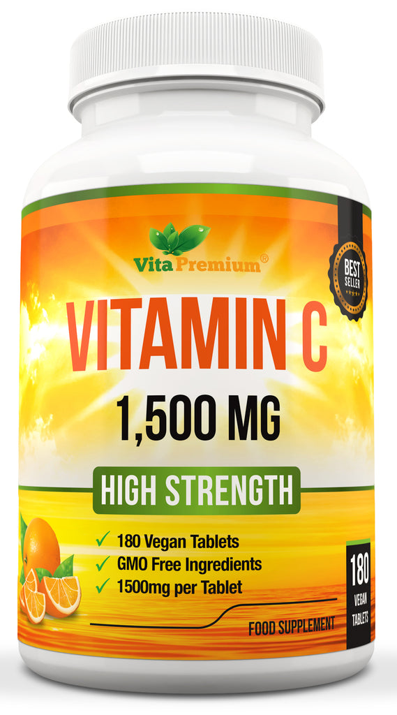Vitamin C 1500 mg Vegan Tablets