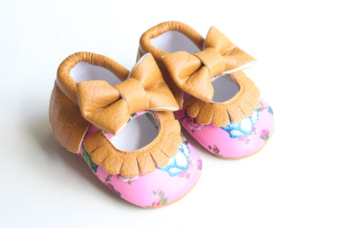 Floral Bow Moccasins