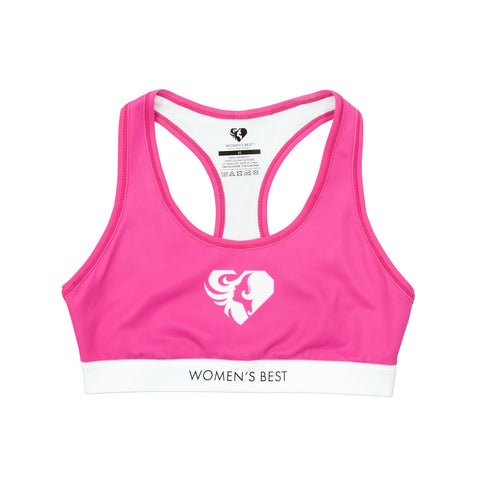 WOMEN'S BEST EXCLUSIVE SPORTS BRA - PINK/WHITE