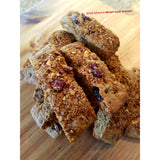 K.r.a.c.'s.C.o.t.t.i/Brown sugar whole wheat  granola biscotti,healthy delicious snack, Italian cookie handmade fresh unique snack.k.r.a.c.n.o.l.a