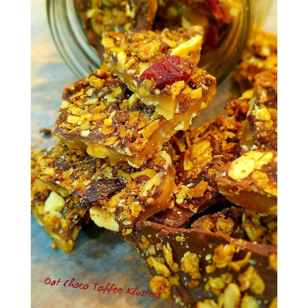 Best,Oat ChocoToffee klusters ,delicious handmade buttery toffee,placed in between chocolate.I'ts and granola.delicious unique toffee - K.r.a.c.n.o.l.a