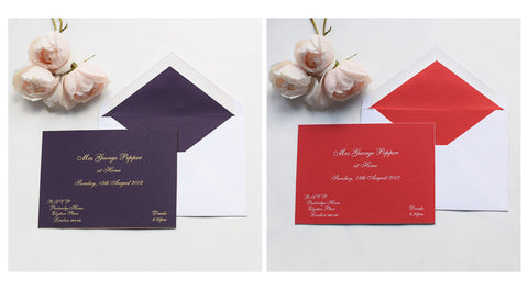 Traditional at Home invitations