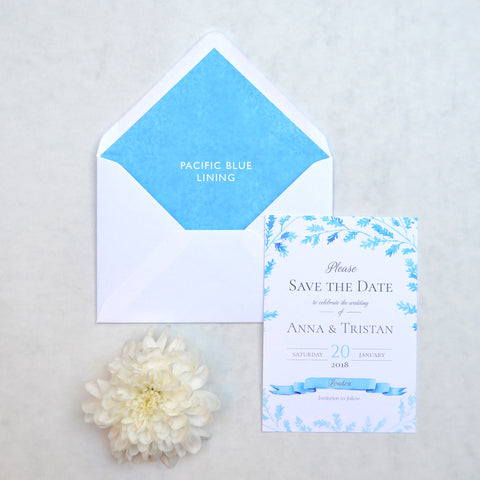 Ice Blue and Green Wedding Stationery