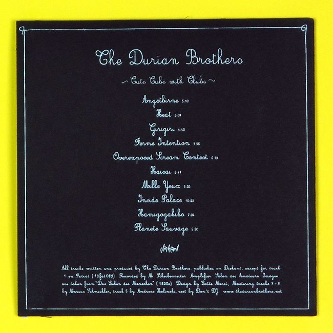 Cd sleeve print -  back - The Durian Brothers : Cuts Cubs with Clubs