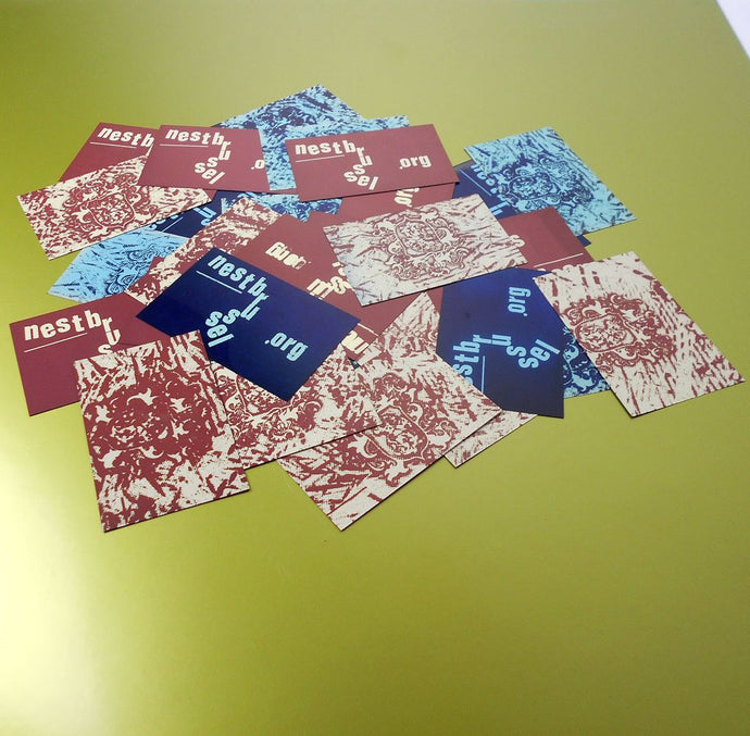 design/print: Nest contact cards - printed on photographic film