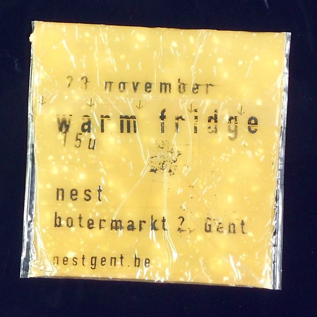 Print on cheddar cheese - Warm Fridge event - (former) Nest