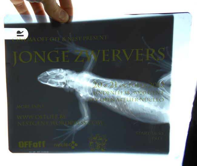 "Print on X-rays - Design/print for ""jonge zwervers"" by Art Cinema OFFoff"