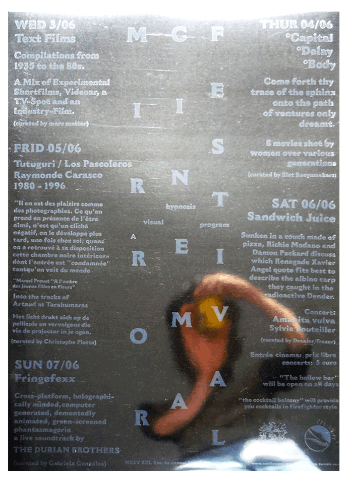 Design/Print - Mirror Cinema Festival Poster - 70 x 50 cm - Printed with transparant ink on mirror paper